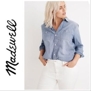 Madewell Chambray Button Down Shirt M